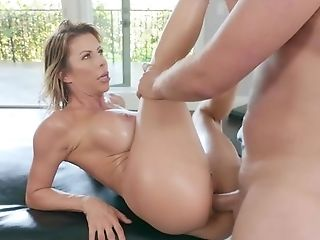 Massagist Fucks Big-boobed Mom In The Butt And Gash