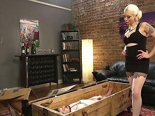 Exotic Mistress Lorelei Lee Trhusts Strap-on In Dude's Spread Rear Entrance