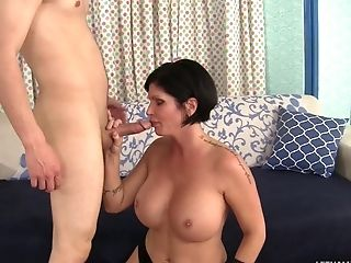 She Is Old Enough To Be His Mummy But Fucks Him Like A Horny Teenage