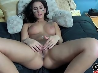Point Of View Act With Alicia Taunt's Tits Getting Covered In Spunk