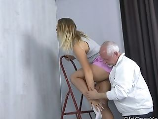 Old Fart Likes Fucking Pretty Hot Youthful Blonde Daniella Margot