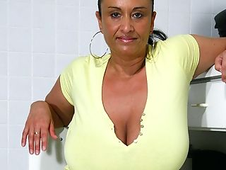 Big Titted Cougar Getting Humid And Wild