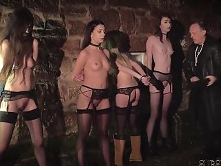 Four Gimps Disciplined And Abased By Master He Fucks And Spank