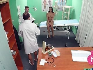 Whorey Nurse Mea Melone Fucked By The Physician And Afterward By His Sonny