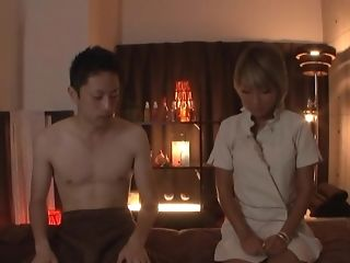 Blonde Japanese Bombshell Aikapounded Missionary After Dinner