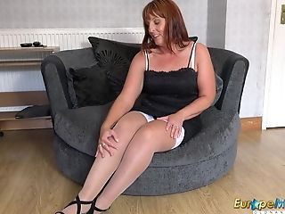 Europemature Watching Sexy Lady Solo In Nylons