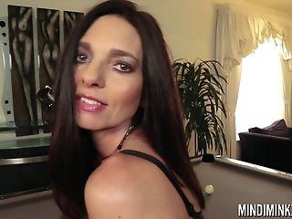 Buxomy Superstar Cougar Mindi Mink Pawing Her Joy Button