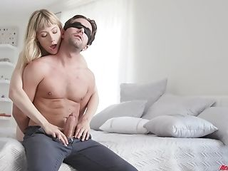 Blonde Chick Ivy Wolfe Surprises Him With An Amazing Suck Off