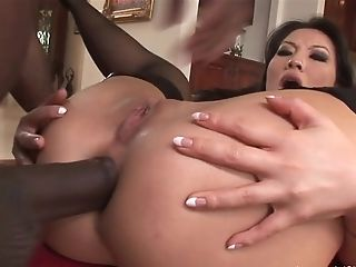 Extreme Interracial Ass-fuck With Big Black Cock
