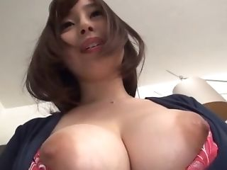 Motel Room Disrobe And Getting Off From A Huge-titted Buxom Japanese Cougar