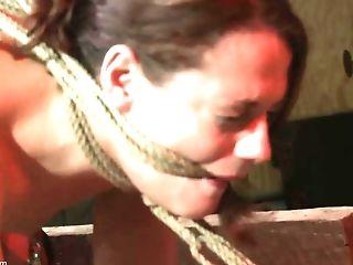 Ultra-kinky Man Likes To Finger A Tied Up Stunner While She Shrieks
