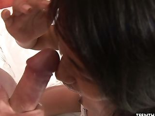 Depraved Asian Hooker Nan Blows Dick Before Topping Her Customer