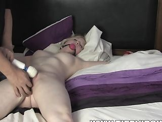 Blonde Teenager Satina Ball Ball-gagged And Has Her Coochie Toyed With