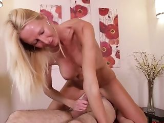 Matures Lexu Rainz With Faux Tits Sits On His Face While Milking Him
