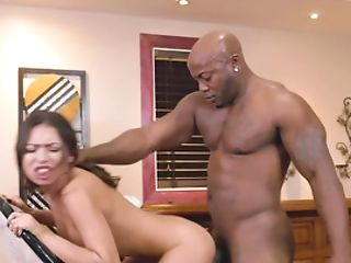 A Sexy Milky Doll Is Fucked By A Horny Black Dude From Behind