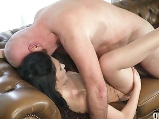 Nubile Nice Perky Tits And Shaven Slit Fucked By Old Friend