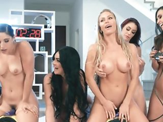 Insane Lesbo Orgy By Supah-hot Divas In Brazzers Mansion Flick